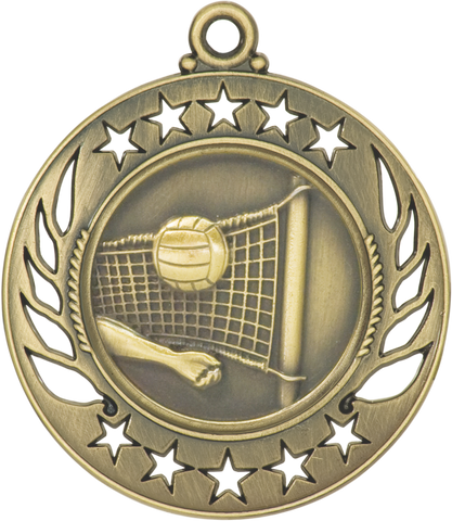 "GM117 Volleyball Medal 2.25"" with Ribbon"