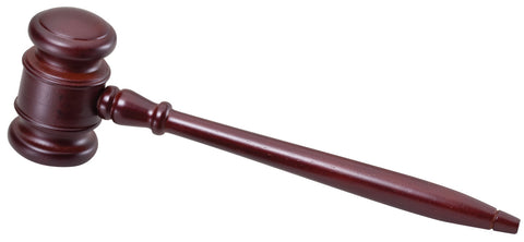 "GV10 High Gloss Rosewood 10"" Gavel w/ Sounding Block"
