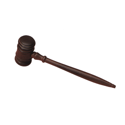 "P435 Walnut Finish Mens 10.5"" Gavel"