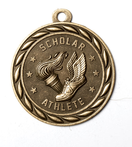 "MS346 Sports Medal - Scholar Athlete 2"" with Ribbon"