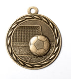"MS349 Sports Medal - Soccer 2"" with Ribbon"