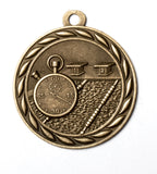 "MS351 Sports Medal - Swimming 2"" with Ribbon"