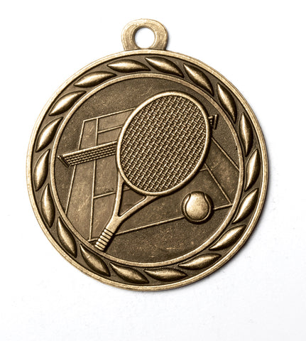 "MS352 Sports Medal - Tennis 2"" with Ribbon"