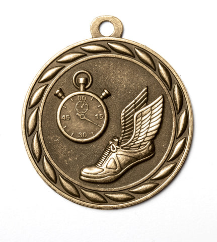 "MS353 Sports Medal - Track 2"" with Ribbon"