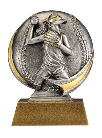 MX502 Motion Xtreme Softball Resin Trophy