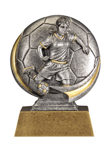 MX506 Motion Xtreme Soccer Female Resin Trophy