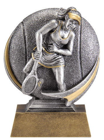 MX522 Motion Xtreme Tennis Female Resin Trophy