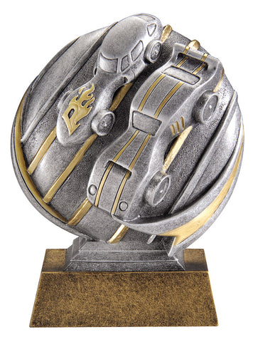 MX534 Motion Xtreme Pinewood Derby Resin Trophy