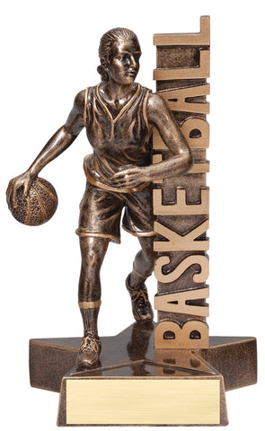 Billboard Series Resin Female Basketball Trophy