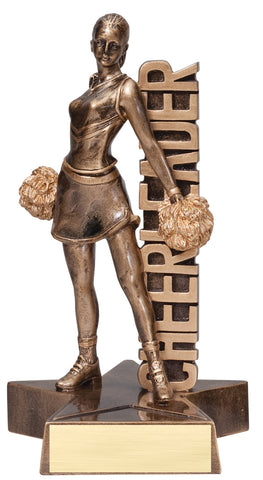 Billboard Series Resin Cheerleader Trophy