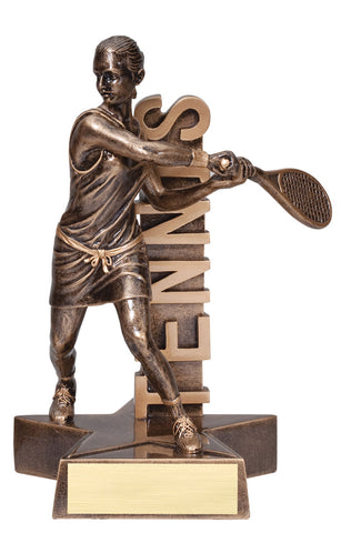 Billboard Series Resin Female Tennis Trophy
