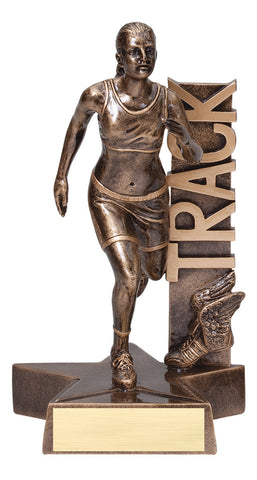 Billboard Series Resin Female Track Trophy