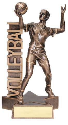 Billboard Series Resin Male Volleyball Trophy