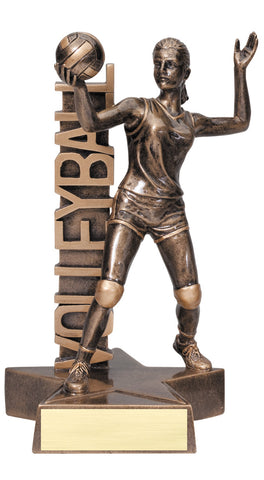 Billboard Series Resin Female Volleyball Trophy