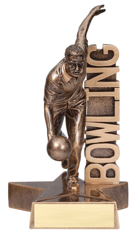 Billboard Series Resin Male Bowling Trophy
