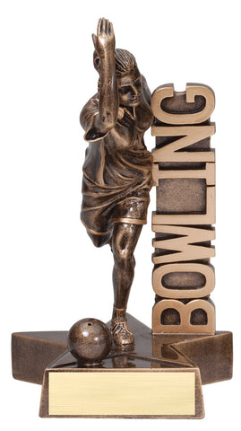 Billboard Series Resin Female Bowling Trophy