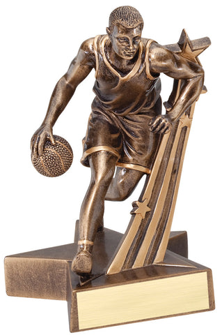 Superstar Series Resin Male Basketball Trophy