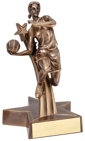 Superstar Series Resin Female Basketball Trophy