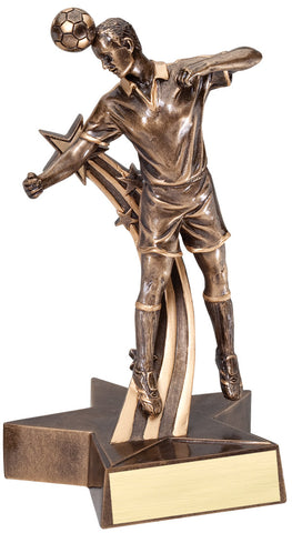 Superstar Series Resin Male Soccer Trophy