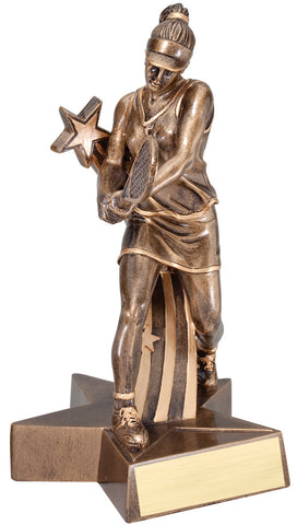 Superstar Series Resin Female Tennis Trophy