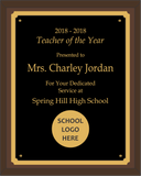 Teacher of the Year Plaque - Standard