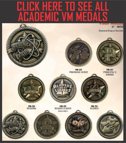 "VM Series Academic Medals 2"" with Ribbon"