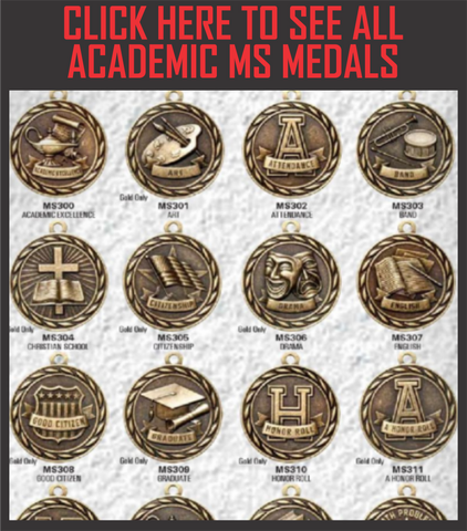 MS Scholastic Medals with Ribbon