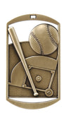 "DT-201 Dog Tag Baseball Medal 2.75"" with Ribbon"