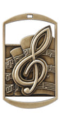 "DT-230 Dog Tag Music Medal 2.75"" with Ribbon"