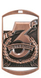 "DT Dog Tag Medals 2.75"" with Ribbon"