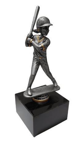 "9"" Girl Softball / Antique Finish Trophy (closeout)"