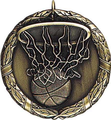 "XR-211 Basketball Medal 2"" with Ribbon"