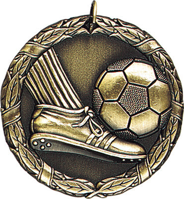 "XR-214 Soccer Medal 2"" with Ribbon"