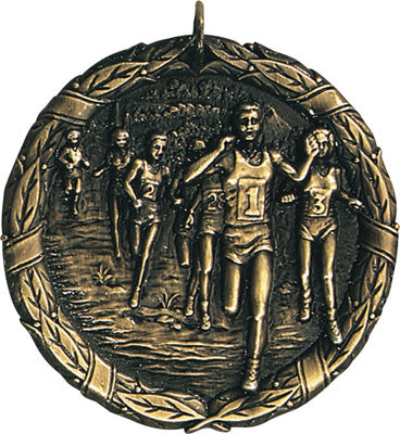 "XR-215 Cross Country Medal 2"" with Ribbon"