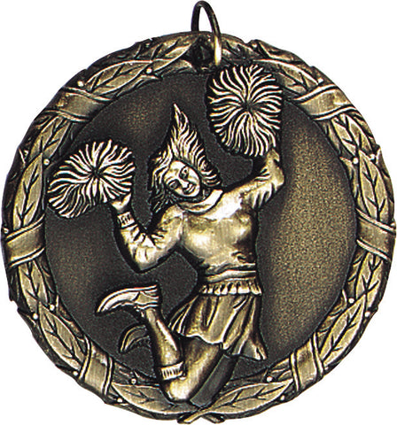 "XR-227 Cheer Medal 2"" with Ribbon"