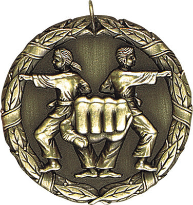 "XR-269 Karate Medal 2"" with Ribbon"