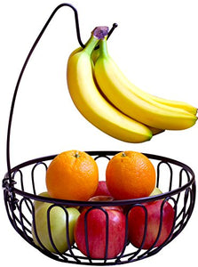 DecoBros - Fruit Tree Bowl w/ Banana Hanger - Bronze
