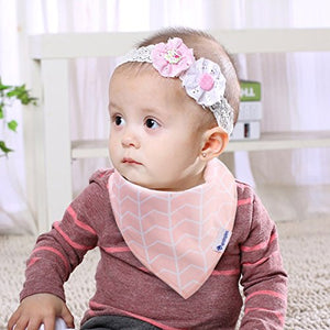 Baby Bibs w/snaps - Organic Cotton - 10 pack