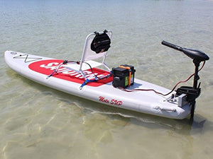Saturn Inflatable MotoSUP - 3-in-1: SUP, Sit-On-Top Kayak and Motor Boat w/built-in transom.