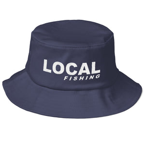 Local Fishing Old School Bucket Hat