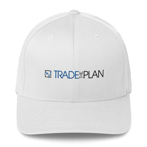 TradeThePlan Fitted White Twill Cap