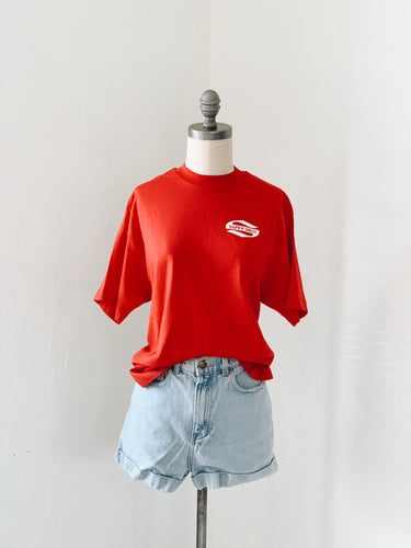 RED SUPER <BR> VALU TEE