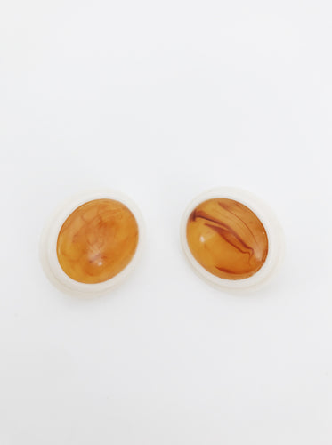 arlee park vintage orange clip on earrings