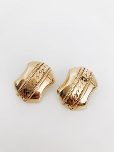 arlee park vintage gold monet clip on earrings