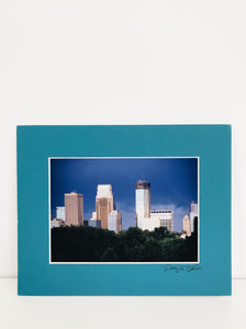 arlee park vintage downtown minneapolis skyline photo