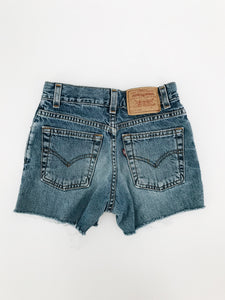 vintage kids levis jean denim shorts