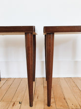 vintage square laminate wood small coffee side tables