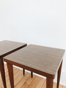 arlee park vintage square laminate wood small coffee side tables