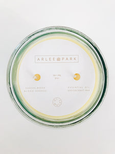 arlee park vintage sandalwood and blood orange candle