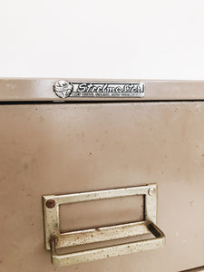 arlee park vintage metal index steelmaster card file cabinet